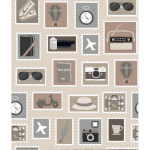 "Ткань для пэчворк (60x110см) 4507-743 ""Stof"" (Дания)"