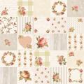 """Ткань для пэчворк (50x55см) 4507-945 из коллекции """"Rosies Summer"""" """"Stof"""" (Дания)"""