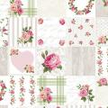 """Ткань для пэчворк (50x55см) 4507-947 из коллекции """"Rosies Summer"""" """"Stof"""" (Дания)"""