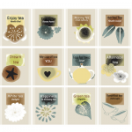 """Ткань для пэчворк (50x55см) 4507-958 из коллекции """"Five oclock tea"""" """"Stof"""" (Дания)"""