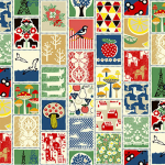 "Ткань для пэчворк (50x55см) 4523-084 ""Stof"" (Дания)"