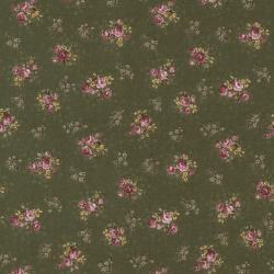 """Ткань для пэчворк (50x55см) 4523-523 из коллекции """"Trachten rosen"""" """"Stof"""" (Дания)"""