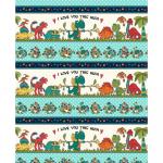 "Ткань для пэчворк (60x110см) 4703-273 из коллекции ""I love you this much"" ""Stof"" (Дания)"