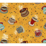 "Ткань для пэчворк (50x55см) 4703-279 из коллекции ""Coffee"" ""Stof"" (Дания)"