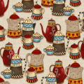 "Ткань для пэчворк (50x55см) 4703-281 из коллекции ""Coffee"" ""Stof"" (Дания)"