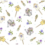 """Ткань для пэчворк (50x55см) 4703-498 из коллекции """"My garden"""" """"Stof"""" (Дания)"""