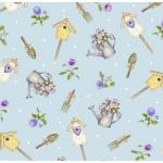 """Ткань для пэчворк (50x55см) 4703-499 из коллекции """"My garden"""" """"Stof"""" (Дания)"""