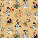 """Ткань для пэчворк (50x55см) 4703-639 из коллекции """"Catnip"""" """"Stof"""" (Дания)"""