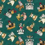 """Ткань для пэчворк (50x55см) 4703-640 из коллекции """"Catnip"""" """"Stof"""" (Дания)"""