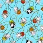 "Ткань для пэчворк (50x55см) 4703-669 из коллекции ""Knit Club"" ""Stof"" (Дания)"