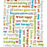 "Ткань для пэчворк (50x55см) 4703-675 из коллекции ""Knit Club"" ""Stof"" (Дания)"