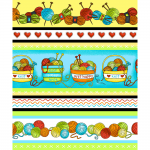 "Ткань для пэчворк (60x110см) 4703-677 из коллекции ""Knit Club"" ""Stof"" (Дания)"