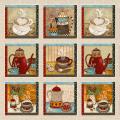 "Ткань для пэчворк (60x110см) 4705-064 из коллекции ""Coffee"" ""Stof"" (Дания)"