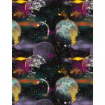 """Ткань для пэчворк (50x55см) 4801-391 из коллекции """"Planets"""" """"Stof"""" (Дания)"""