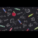 """Ткань для пэчворк (50x55см) 4801-410 из коллекции """"School"""" """"Stof"""" (Дания)"""