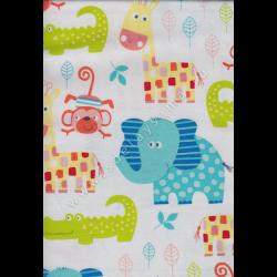 "Ткань для пэчворк (50x55см) 801-731 из коллекции ""Zoo"" ""Stof"" (Дания)"