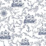 """Ткань для пэчворк (50x55см) 801-928 из коллекции """"Marine story"""" """"Stof"""" (Дания)"""