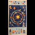 """Ткань для пэчворк (60x110см) 805-039 из коллекции """"Cosmos"""" """"Stof"""" (Дания)"""