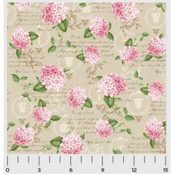 "Ткань для пэчворк (50x55см) 26635BEI из коллекции ""Pink Lady"" ""Washington Street Studio"" (США)"