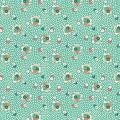 """Ткань для пэчворк (50x55см) 26643GRE из коллекции """"Vintage 30s florals"""" """"Washington Street Studio"""" (США)"""
