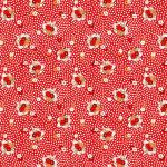"""Ткань для пэчворк (50x55см) 26643RED из коллекции """"Vintage 30s florals"""" """"Washington Street Studio"""" (США)"""
