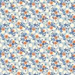 """Ткань для пэчворк (50x55см) 26647BLU из коллекции """"Vintage 30s florals"""" """"Washington Street Studio"""" (США)"""