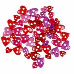"""Пуговицы """"Сердца мини разноцветные"""" 49шт. """"Button Fashion"""" (Голландия)"""