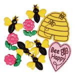 """Пуговицы """"Счастливые пчелки"""" 9шт. """"Button Fashion"""" (Голландия)"""