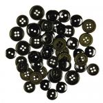 """Пуговицы """"Ассорти черные"""" 130шт. """"Button Fashion"""" (Голландия)"""