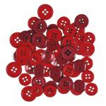 """Пуговицы """"Ассорти красные"""" 130шт. """"Button Fashion"""" (Голландия)"""