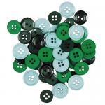 """Пуговицы """"Ассорти зеленые"""" 130шт. """"Button Fashion"""" (Голландия)"""