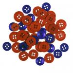 """Пуговицы """"Ассорти красные и фиолетовые"""" 130шт. """"Button Fashion"""" (Голландия)"""
