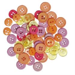 "Пуговицы ""Ассорти цвета флоры"" 130шт. ""Button Fashion"" (Голландия)"