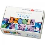 """Набор красок по ткани 6 цв. """"Decola"""""""
