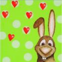 """Салфетка для декупажа """"Сердце кролика"""" 1661438 33х33 см """"Efco"""" (Германия)"""