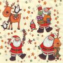 "Салфетка для декупажа ""Дед Морозы"" 33х33 см ""Daisy"""