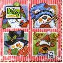 "Салфетка для декупажа ""Новогодние персонажи 2"" 33х33 см ""Daisy"""