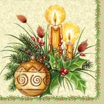 "Салфетка для декупажа ""Рождественские свечи"" 33х33 см ""Daisy"""