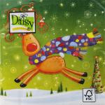 """Салфетка для декупажа """"Рождественский олень"""" 33х33 см """"Daisy"""""""
