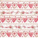 "Салфетка для декупажа ""Сердца и розы"" 33х33 см ""Daisy"""
