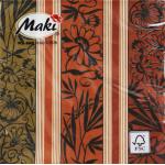 "Салфетка для декупажа ""Полосы цветов"" 33х33 см ""Maki"""