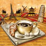 """Салфетка для декупажа """"Французский завтрак"""" 33х33 см """"Maki"""""""