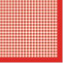 "Салфетка для декупажа ""Красная клетка"" 33х33 см ""Maki"""