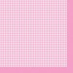 """Салфетка для декупажа """"Розовая клетка"""" 33х33 см """"Maki"""""""