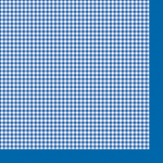 """Салфетка для декупажа """"Синяя клетка"""" 33х33 см """"Maki"""""""