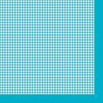 "Салфетка для декупажа ""Голубая клетка"" 33х33 см ""Maki"""