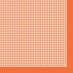 "Салфетка для декупажа ""Оранжевая клетка"" 33х33 см ""Maki"""