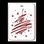 """Трафарет пластиковый многоразовый """"Большая елка-1"""" 31х22см """"Event Design"""""""