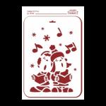 """Трафарет пластиковый многоразовый """"Рождественские песни"""" 31х22см """"Event Design"""""""