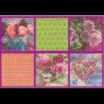 "Набор салфеток для декупажа ""Розовый букет"" 12шт. 33х33 см ""Love2art"""